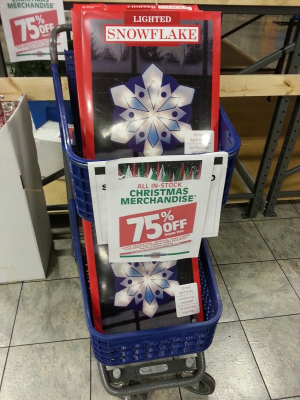 McLendons Christmas Clearance at 75 off!
