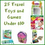 25 Travel Toys And Games Under 10