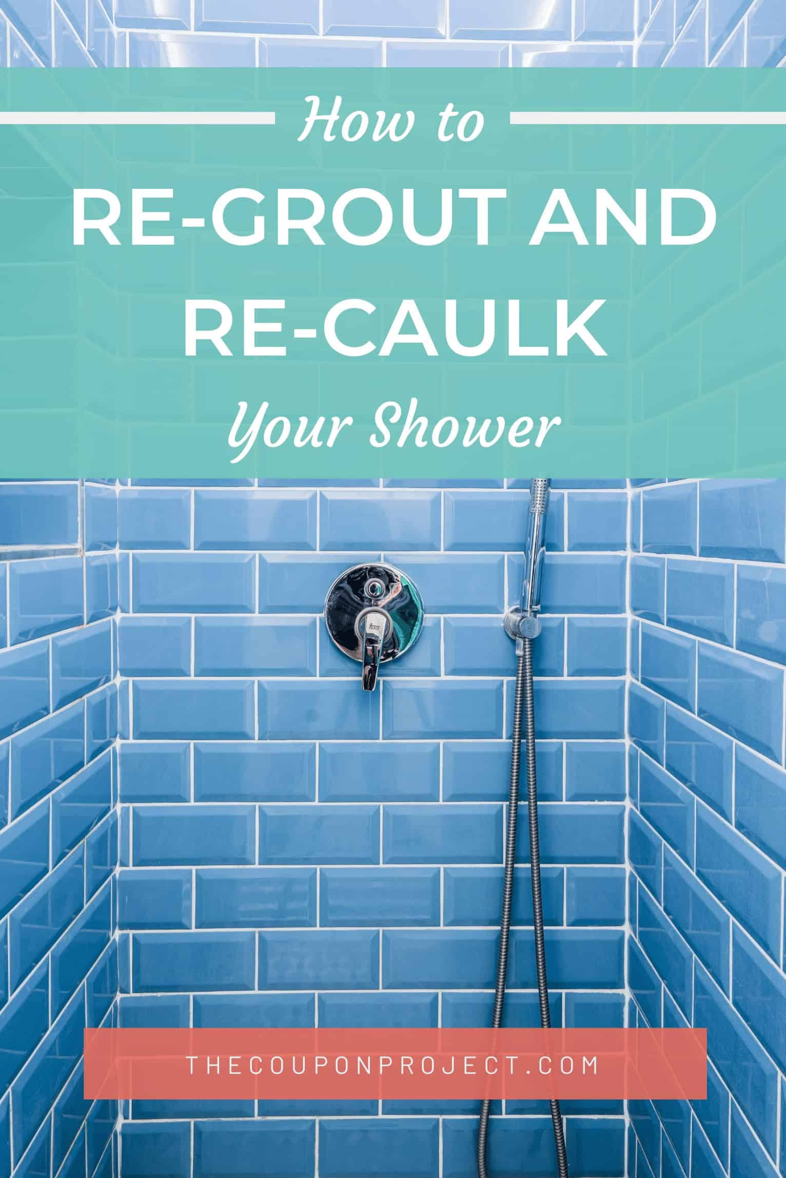how i re grouted my shower for under
