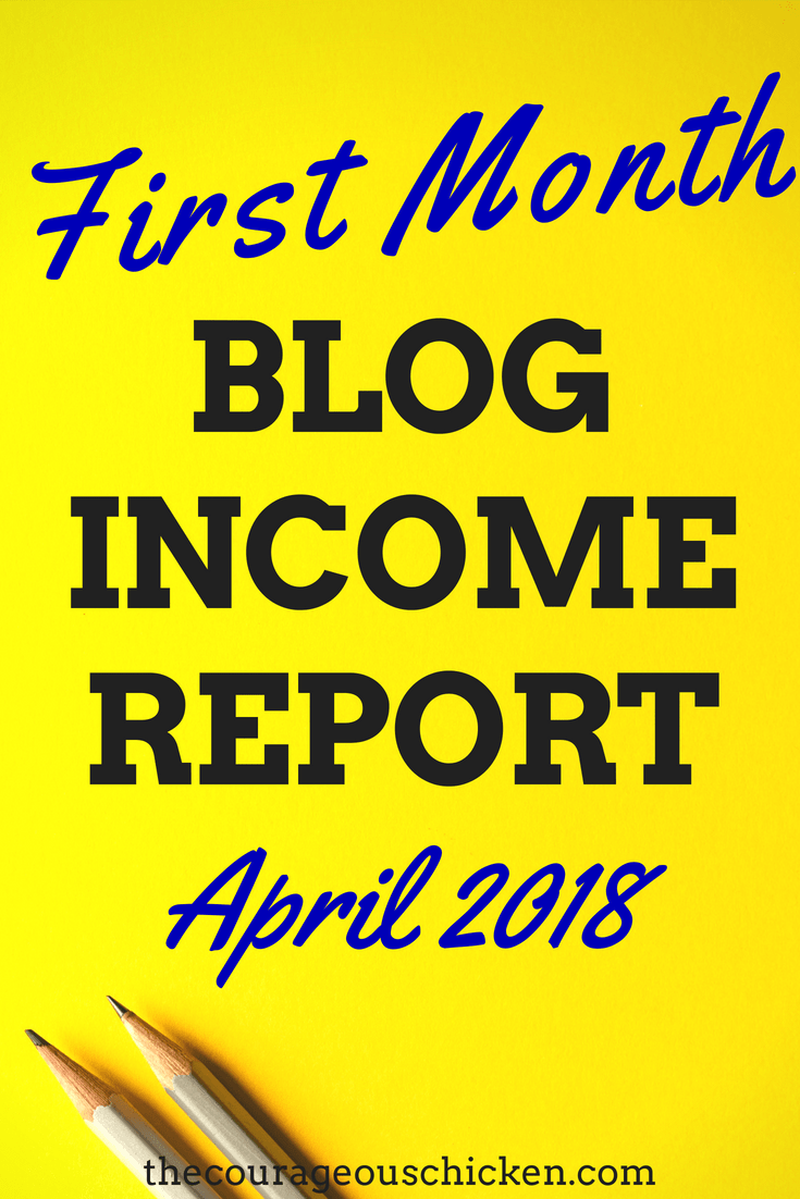 First month blog income report