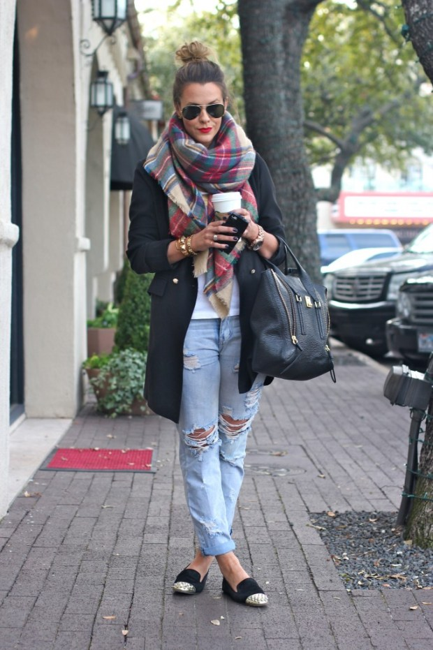 What Courtney Wore scarf automne