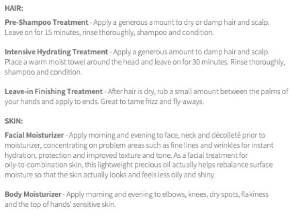 directions for applying Rejuvenique..the best hair and body oil!