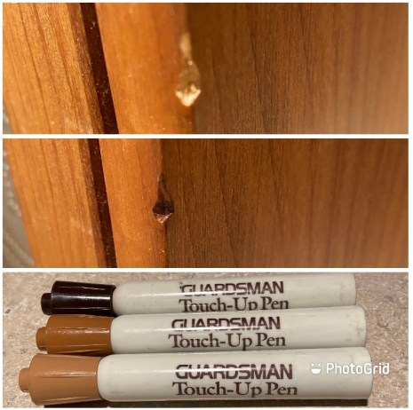 super inexpensive way to fix wooden furniture! five things friday part 16