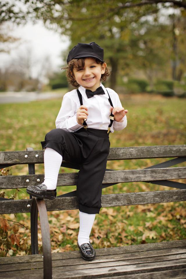 Boys Black Dressy 4 Piece Knicker Set With Cap The