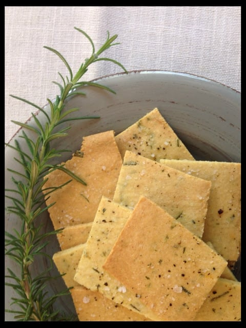 Rosemary almond meal crackers