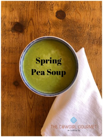Sunrise Springs' spring pea soup