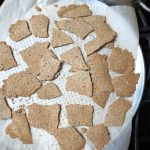 Sesame crackers fully broken