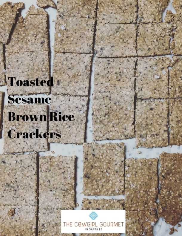 Toasted Sesame Brown Rice Crackers