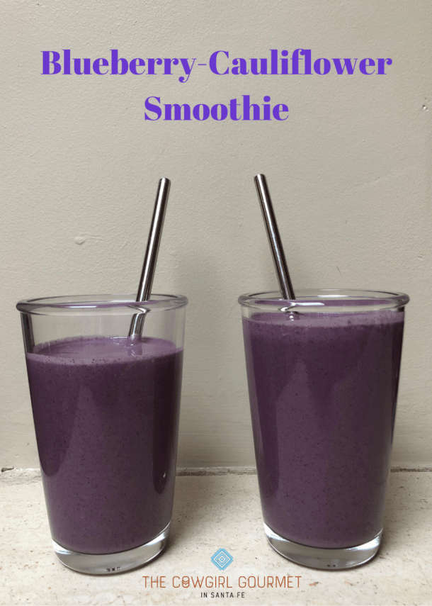 Blueberry-Cauliflower smoothie