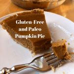 Gluten-free and Paleo Pumpkin Pie