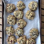 Trail mix cookies sheet tray