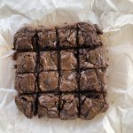 Nutella brownies cut