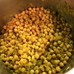 Spicy chickpea and cauliflower stew chickpeas