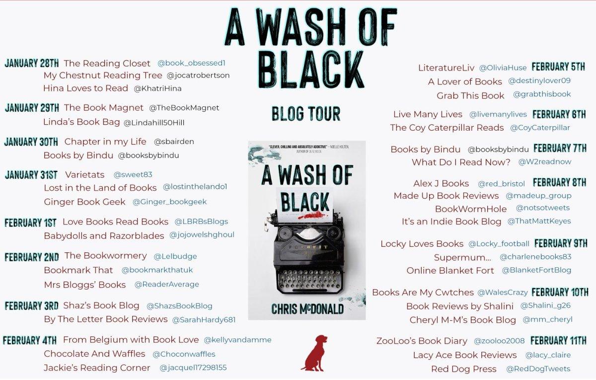AWOB BT Banner - Blog Tour: A Wash of Black by Chris McDonald