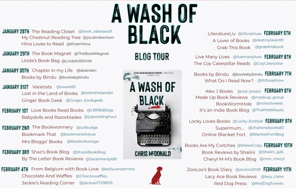 AWOB BT Banner - Blog Tour: A Wash of Black by Chris McDonald