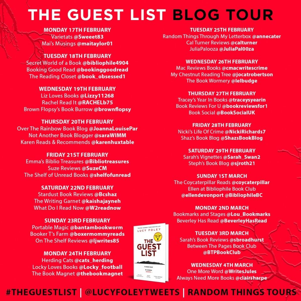 FINAL Guest List Blog Tour Poster - Blog Tour: The Guest List by Lucy Foley