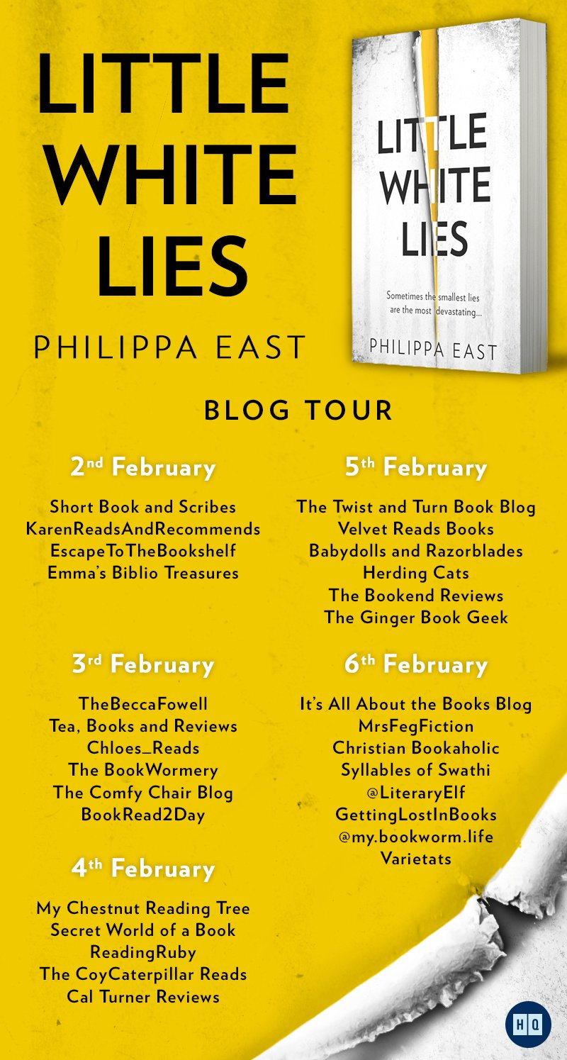 LittleWhiteLiesBTB - Blog Tour: Little White Lies by Philippa East