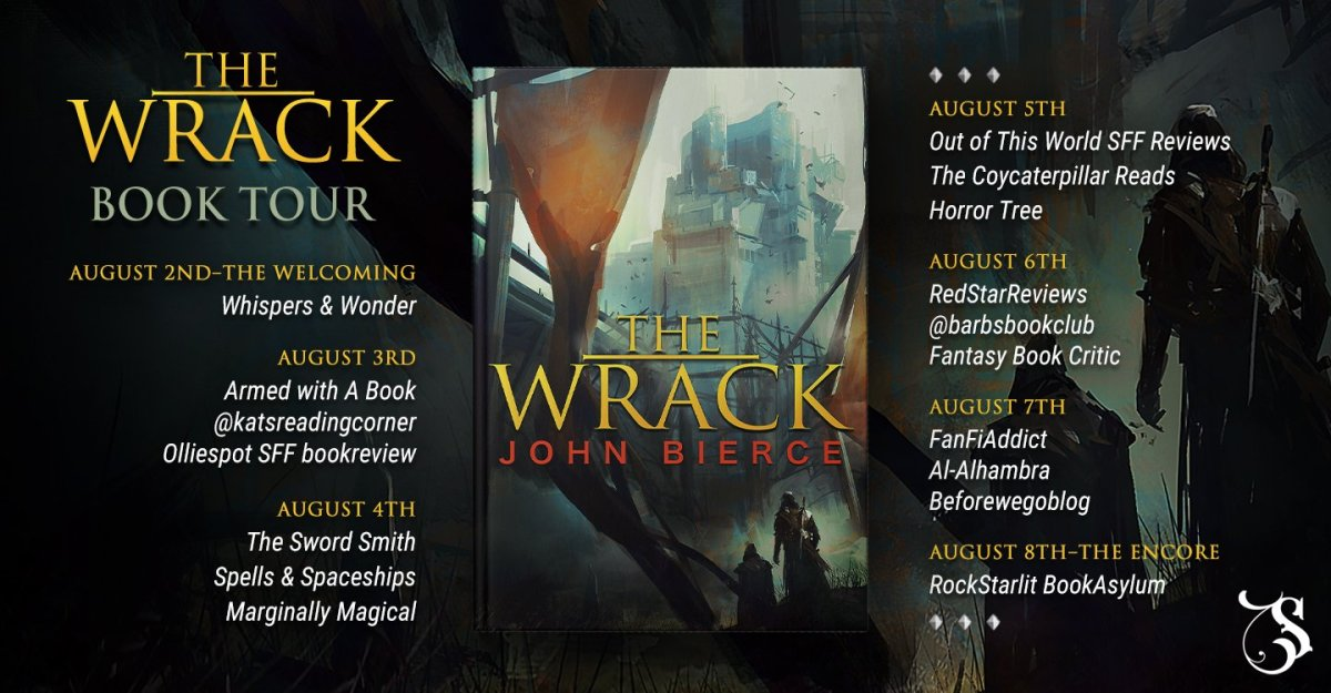 the wrack bierce banner hosts - The Wrack by John Bierce | Blog Tour