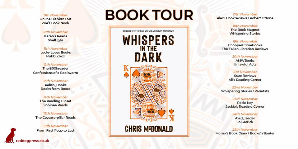 WITDBTbanner - Whispers In The Dark by Chris McDonald | Blog Tour