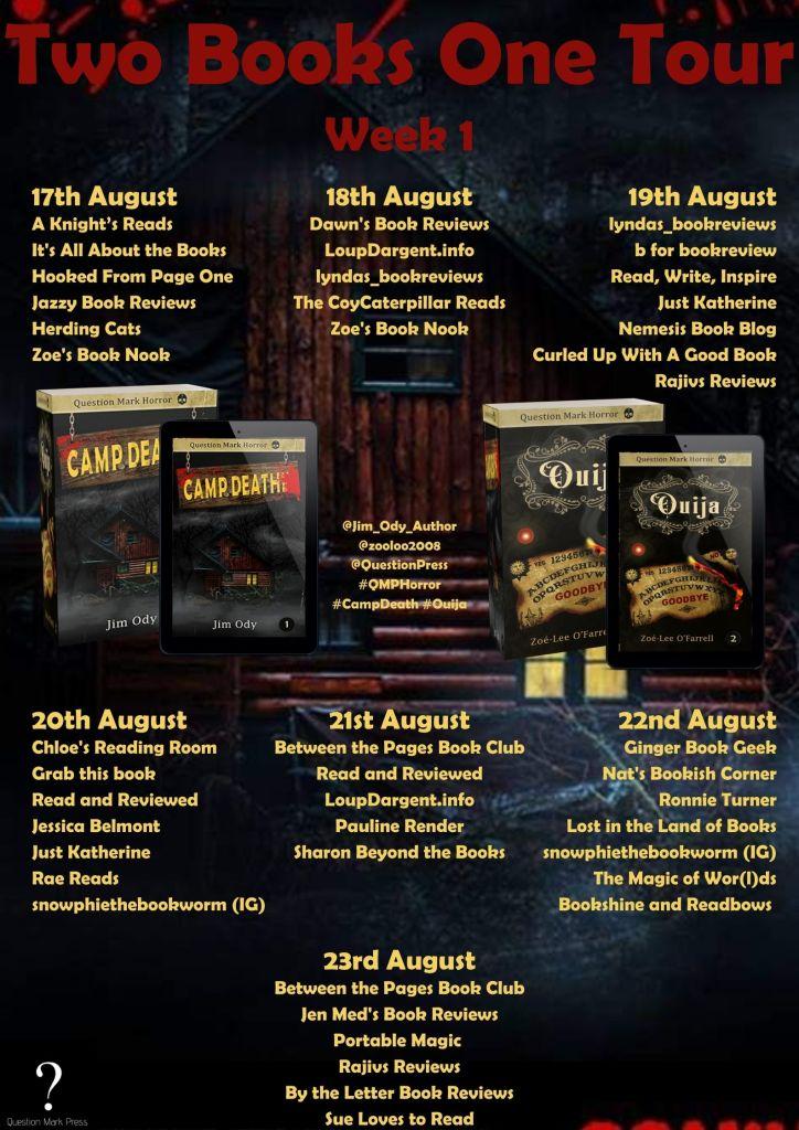 QMP Week 1 1 724x1024 - Blog Tour: Camp Death by Jim Ody