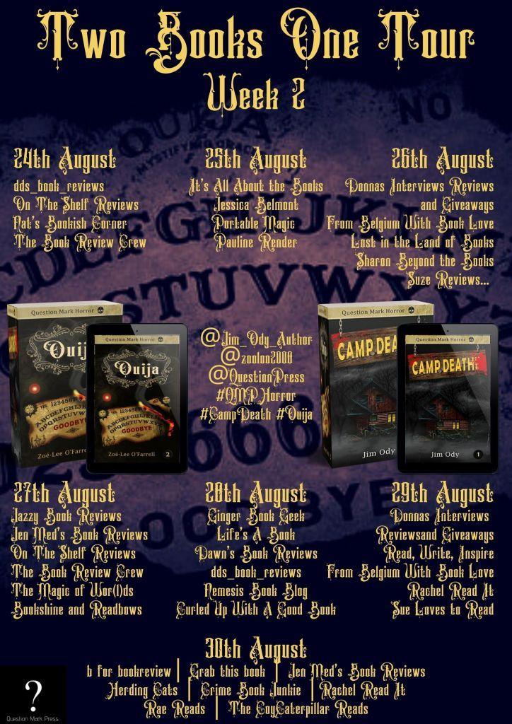 QMP Week 2 1 724x1024 - Blog Tour: Camp Death by Jim Ody