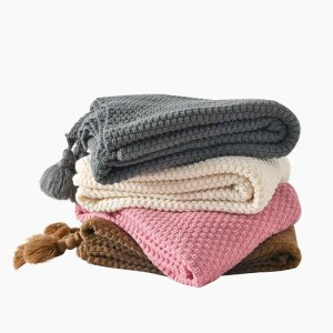 Allure Knitted Tassels Blanket