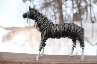 Black Horse Sculpture, Cats 013 - Copy