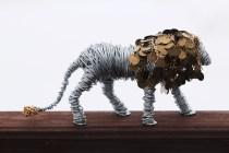 Lion sculpture finished 002 - Copy