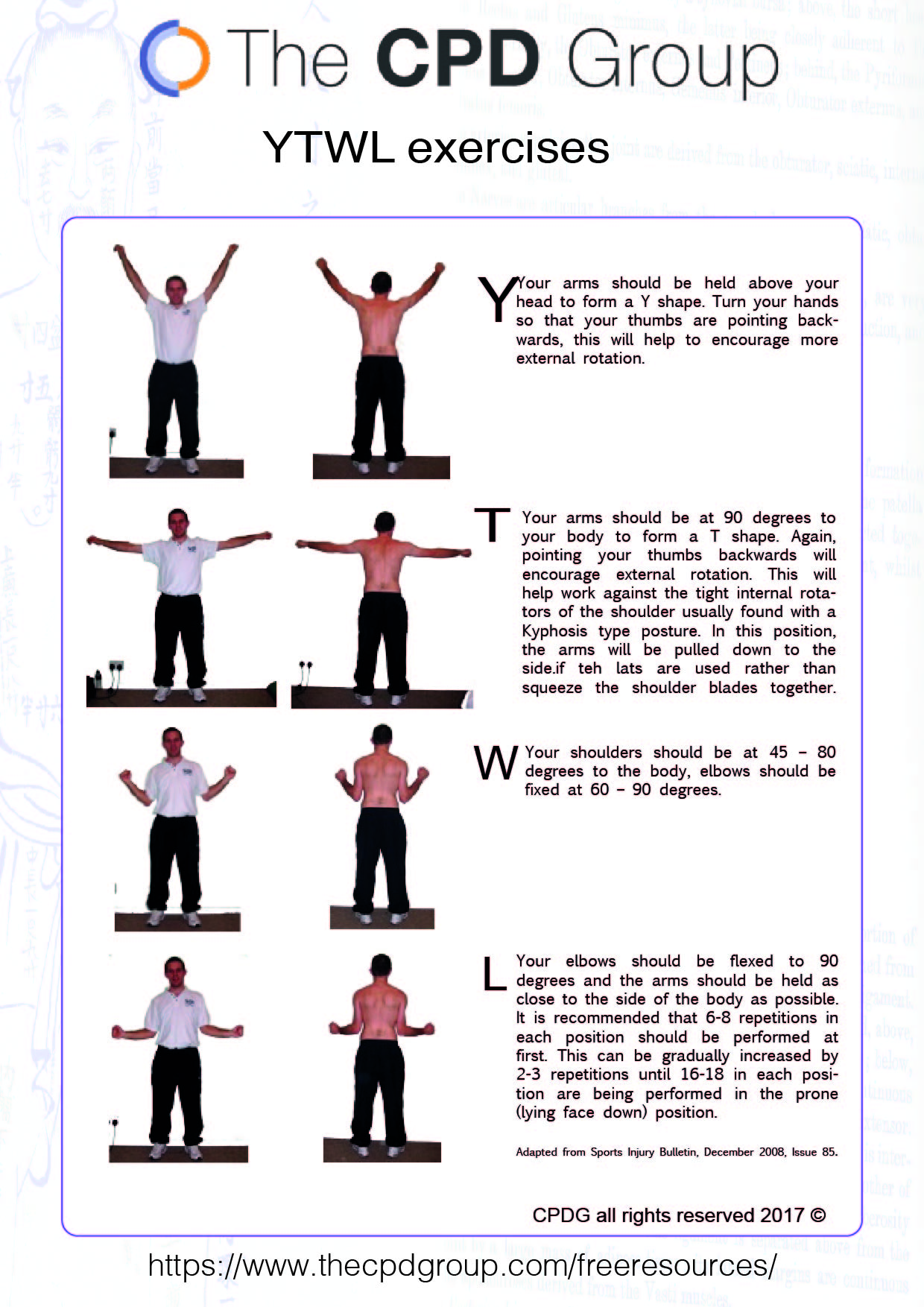 CPDG YTWL self help exercises