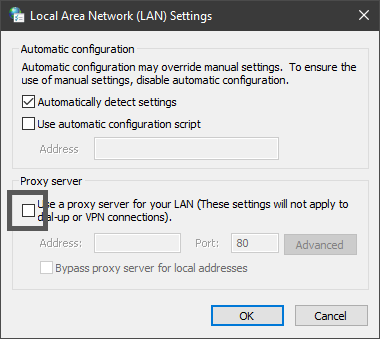 local area network lan settings