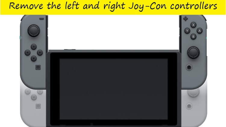 remove the left and right joy-con controller