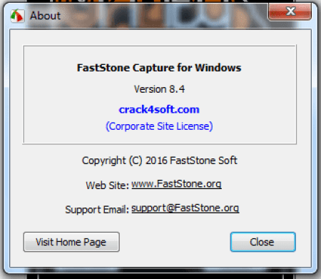 FastStone Capture 8.6 Crack + Serial Key Free Download