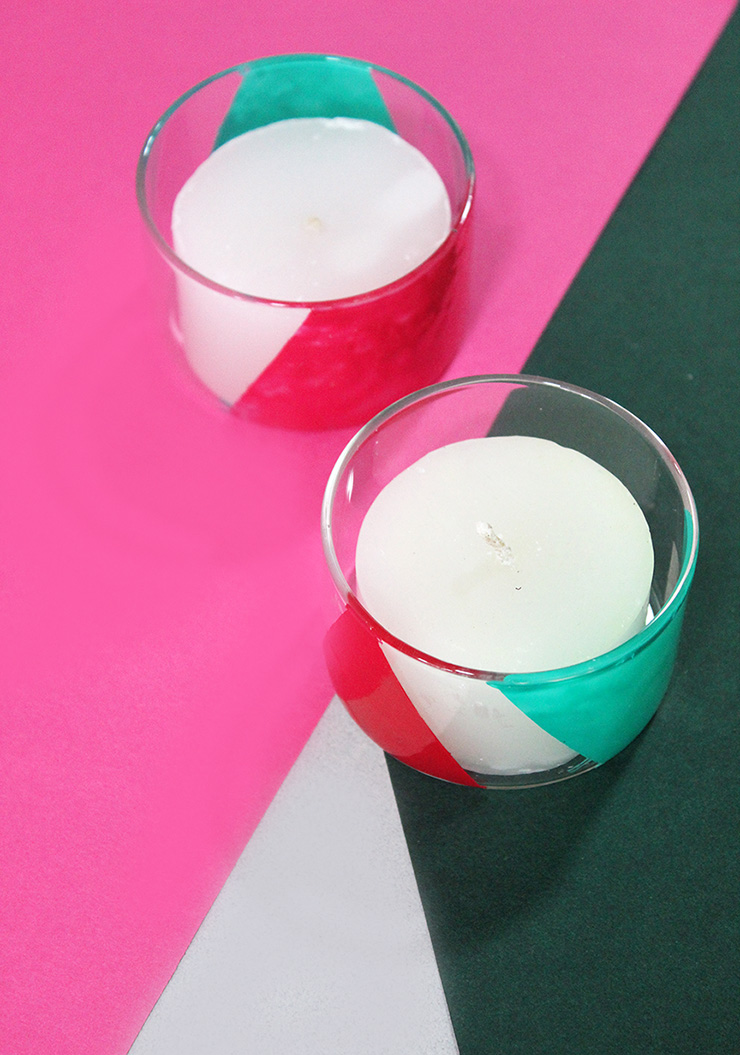 DIY Candle Holders With Nail Polish The Craftables