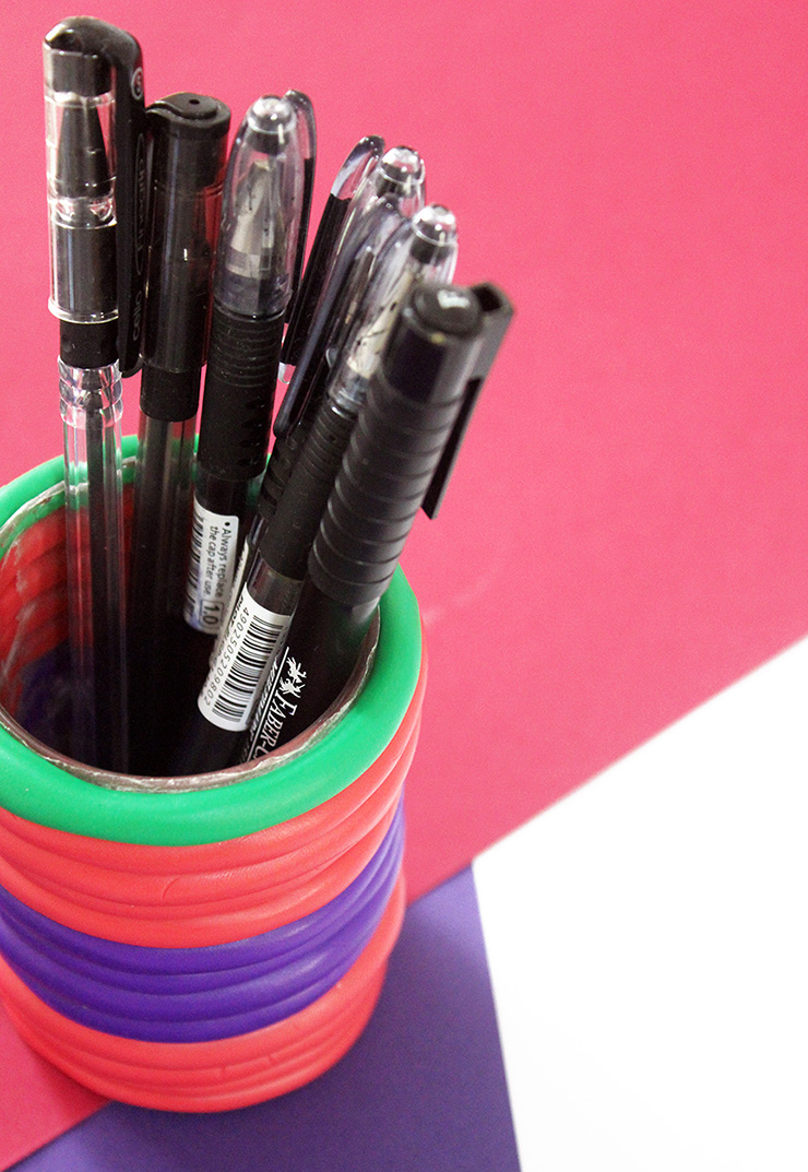 How To Make Clay Pen Holders  The Craftables