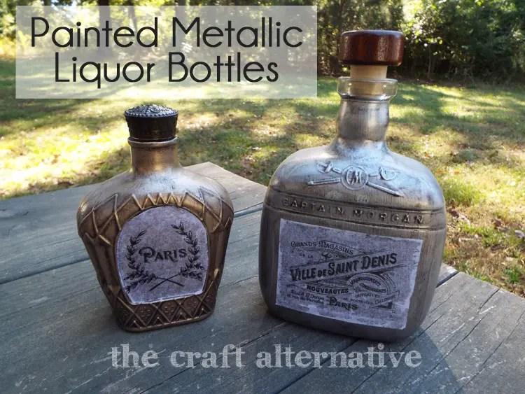 Painting Glass Bottles DSCF2226