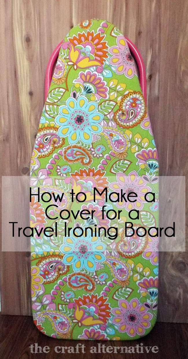 How to Make a Cover for a Travel Ironing Board_Finished