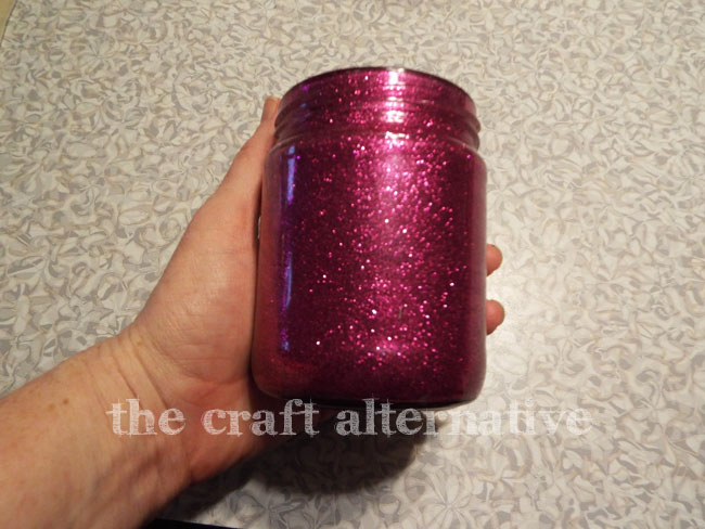 Add Glitter and Frosted Vinyl to a Recycled Jar_Glitter