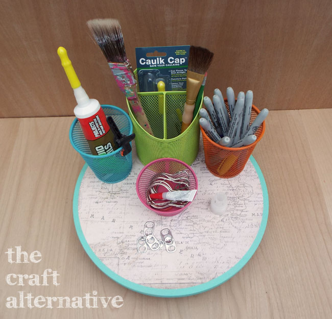How to Make a Lazy Susan Organizer_Top View