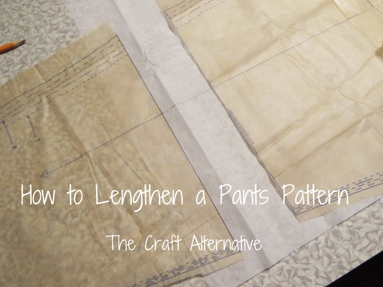 How to Lengthen a Pants Pattern