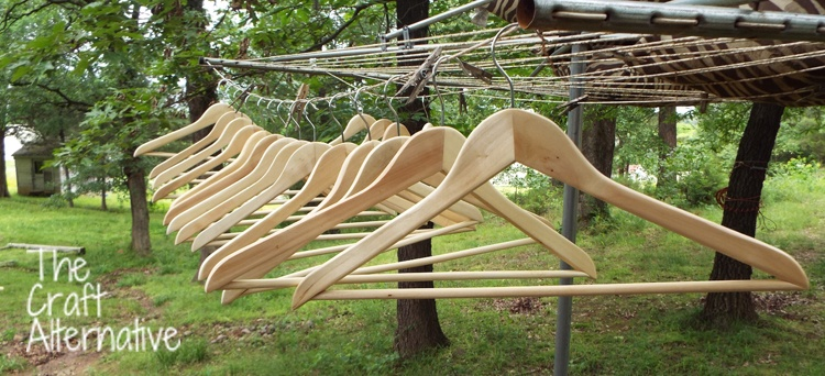 Adding Paint to Wooden Hangers_Unfinished