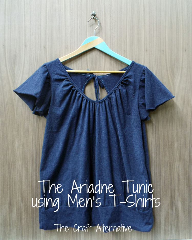 The Ariadne Tunic Made with Men's T-Shirts
