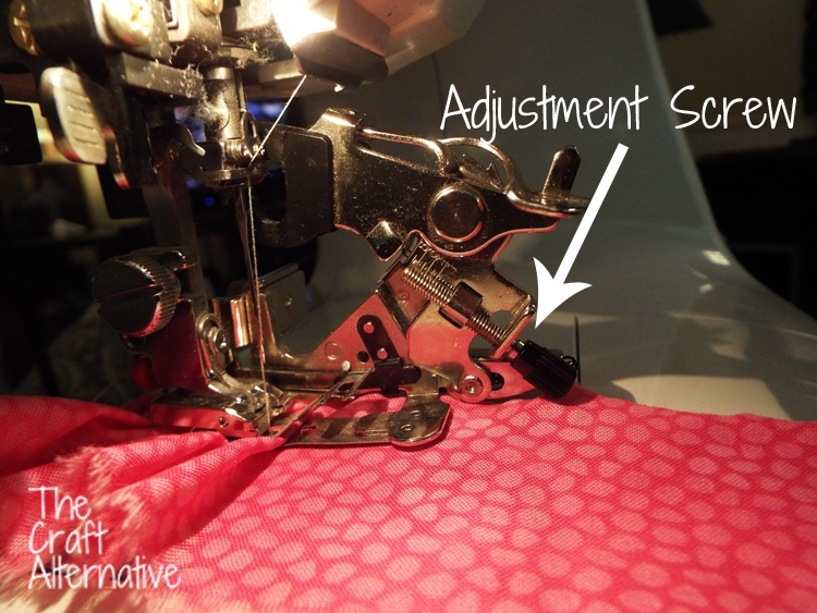 How to Use a Ruffler on a Sewing Machine_Adjustment Screw
