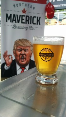 Fake News Ale from Northern Maverick Brewing Co. is a pleasant session ale, that will sit well as a slightly stronger summer ale.