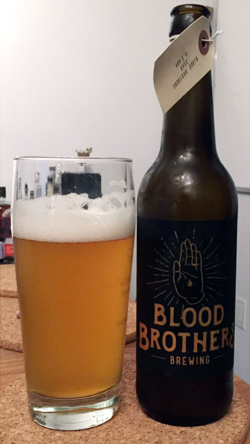 Blood Brothers have been putting out some delicious sour beers this summer and I had heard very good things about this one. It was time to enjoy it. Click through for the full review!
