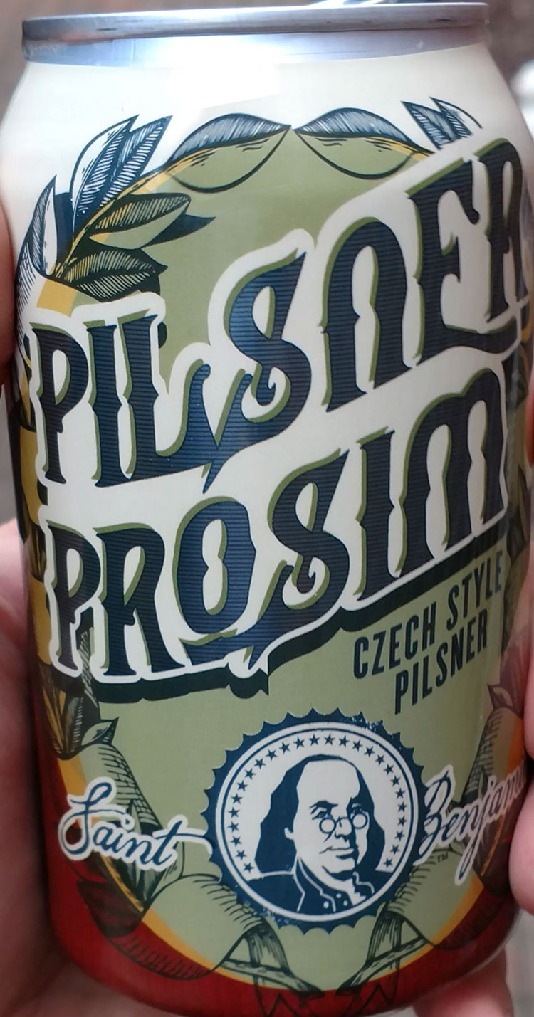 The Pilsner Prosim is a fantastic unfiltered Czech pilsner. Simple and subtle, with a kick of the Czech saaz hops. They are right – it's a fast drinking beer. Click through for full review.