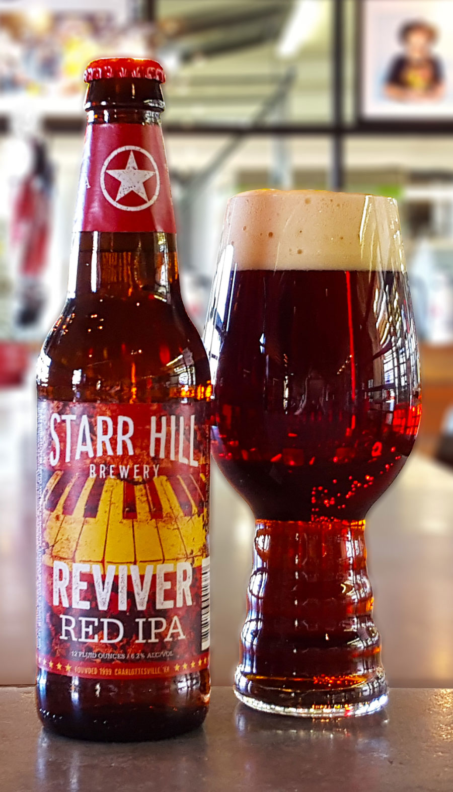 Reviver Red IPA is Spring seasonal that masterfully combines the malty qualities of an amber ale with the citrus and pine qualities of an American IPA. Click through for full review.