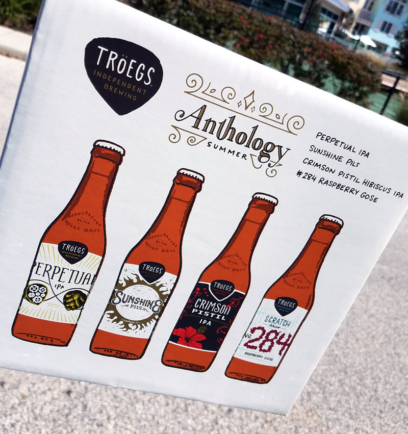 We look back at the Troegs Anthology Summer Sampler, reviewing the Perpetual IPA, Sunshine Pils, Crimson Pistil IPA, and Scratch #284 Raspberry Gose.