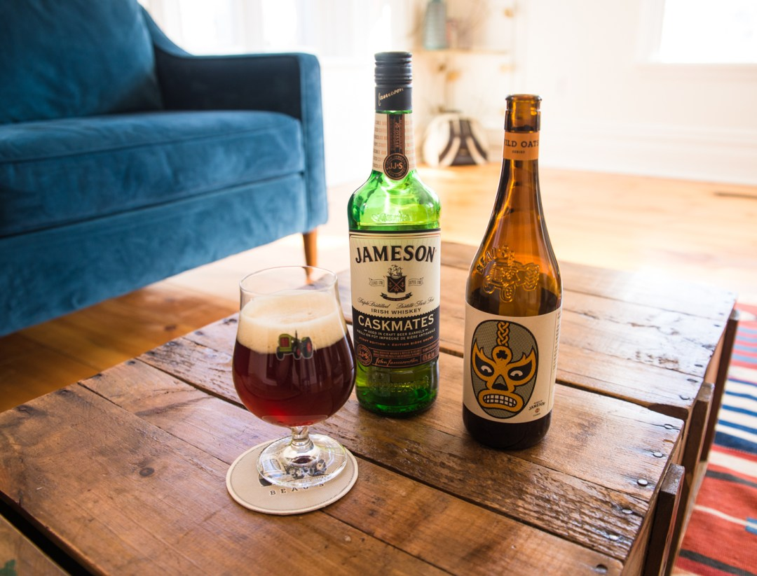 Strong Patrick is an Irish-style red ale from Beau's All Natural Brewing Company in Ottawa, Ontario. Infused with Jameson's Irish Whisky, it's a solid pour.