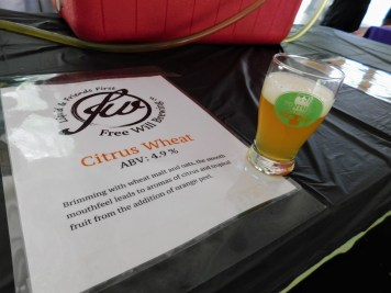 Fonthill Castle Beer Festival 2018 032 Free Will Brewing Citrus Wheat (Large)