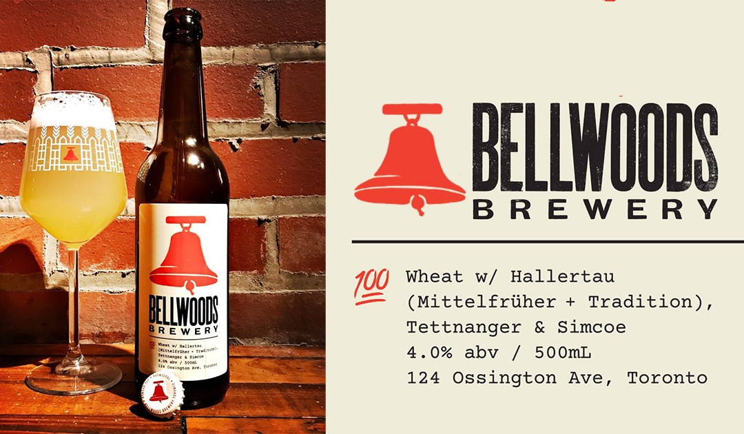 Bellwoods Brewery: 100% Wheat Pale Ale W/ Hallertau (Mittelfruher + Tradition), Tellnanger & Simcoe